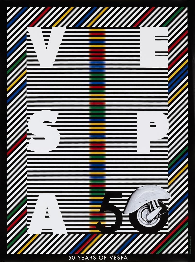 poster-anniversario-50-anni-vespa-milton-glaser-per-rubrica-fuoricontest-expo4talent