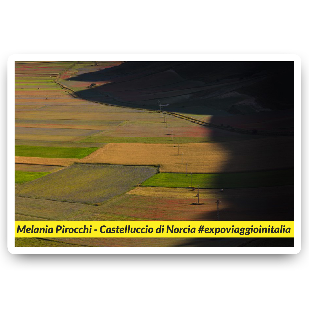 Castelluccio di Norcia nello scatto dell'exposer di expo4talent Melania Pirocchi, per #expoviaggioinitalia