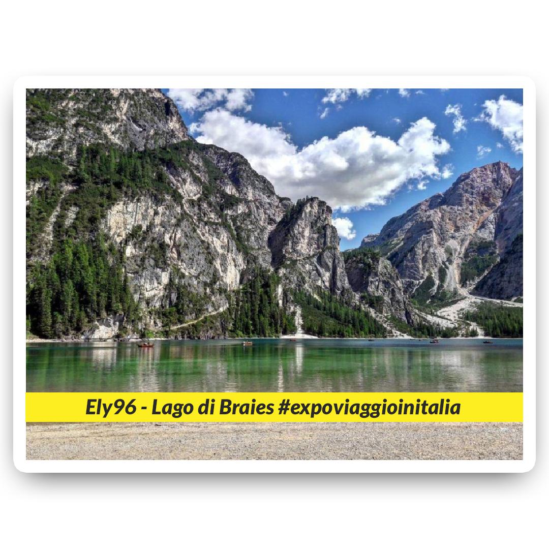 Lago di Braies nello scatto dell'exposer di expo4talent Ely 96, per #expoviaggioinitalia