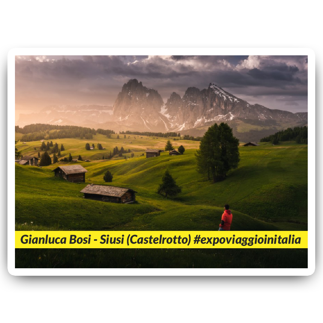 Siusi nello scatto dell'exposer di expo4talent Gianluca Bosi, per #expoviaggioinitalia