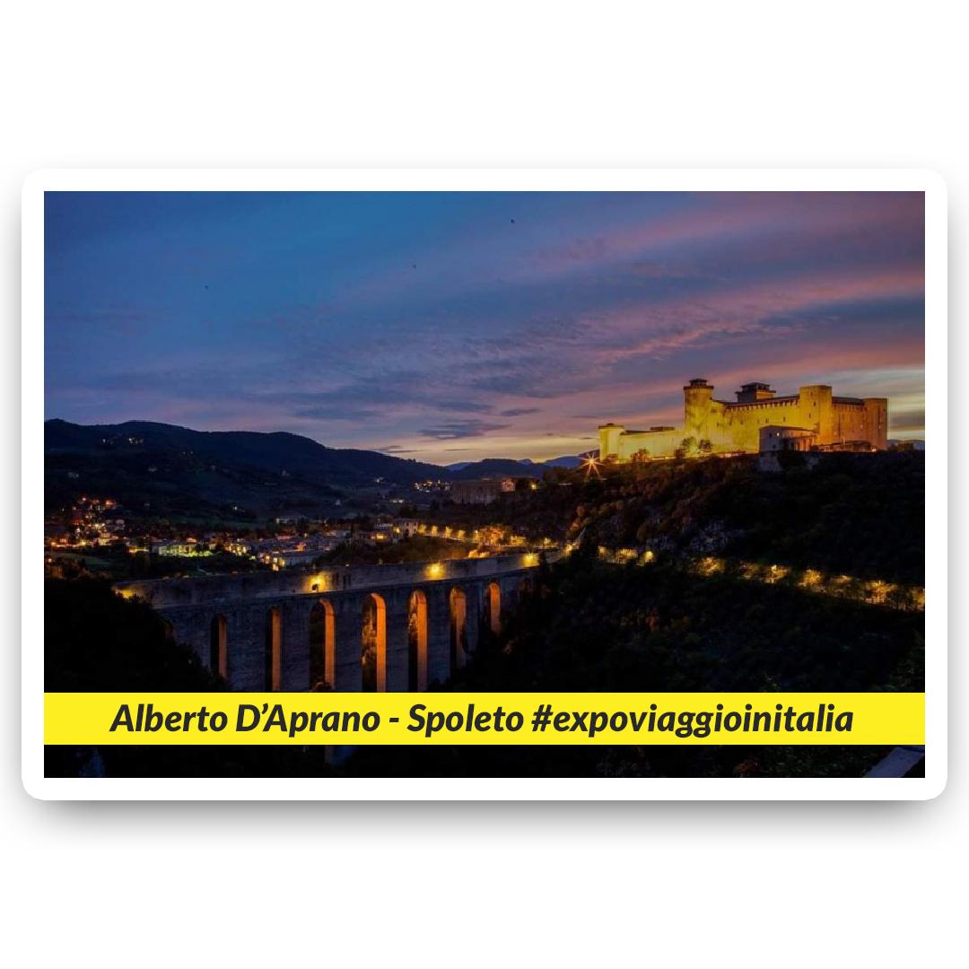 Spoleto nello scatto dell'exposer di expo4talent Alberto D'Aprano, per #expoviaggioinitalia