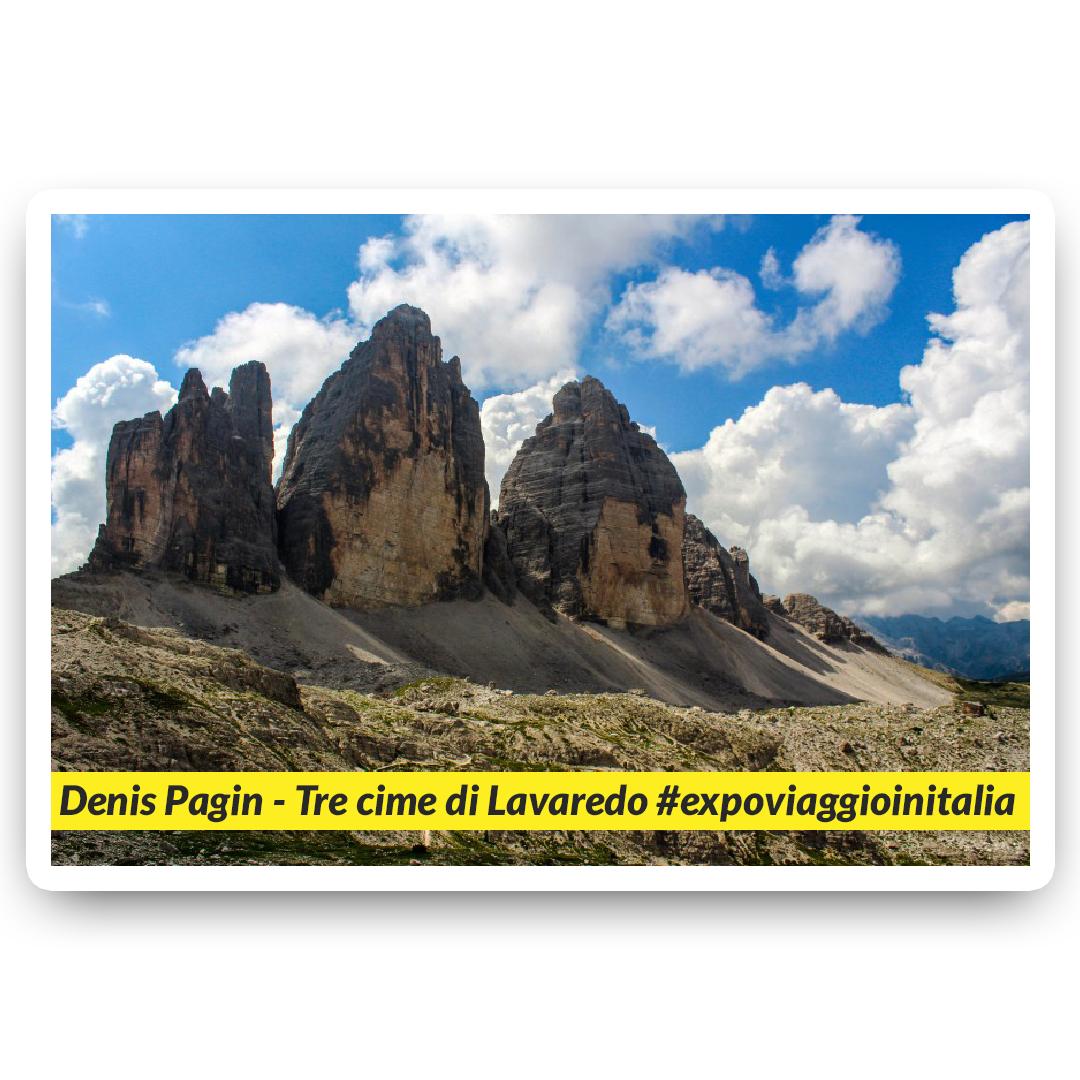 Tre Cime di Lavaredo nello scatto dell'exposer di expo4talent Denis Pagin, per #expoviaggioinitalia